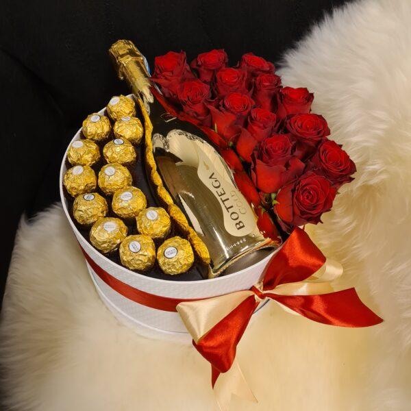 flower box røde roser